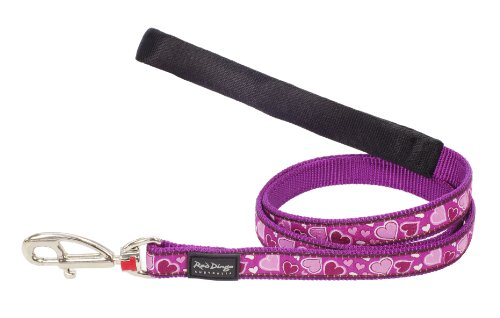 Red Dingo Breezy Love Patterned Dog Lead, M, 18 Mm X 1.2 M, Purple