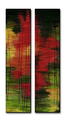 All My Walls Metal Wall Hanging Set Abstract Contemporary Sculpture Art Fall Reflections