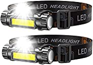 Headlamp Flashlights,USB Rechargeable Headlight with Magnetic,Waterproof Head Lights with Built in Batteries f