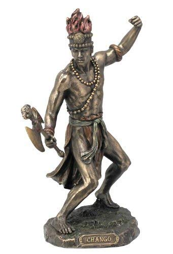 African God of Lightning and War Chango Shango Statue Voodoo Santeria