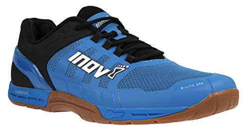Inov-8 Mens F-Lite 290 - Ultimate Cross Training Shoes - Power Heel - Performance Trainer for Gym and Weight Lifting - Blue/Black M10/ W11.5