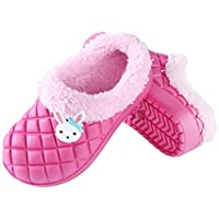 Kids Slip on Cotton Warm House Slippers-Breathable Cozy Bedroom Home Shoes-Boys and Girls Fuzzy House Shoes for Indoor or Outdoor