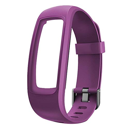YHCWJZP Fashion Durable Replacement Strap Waterproof Silicone Smart Bracelet Watch Band for ID107PLUS - Purple