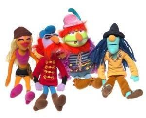 Jim Henson Muppets Electric Mayhem Plush Set with Zoot, Janice, Floyd and Dr. Teeth