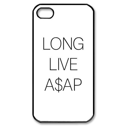 Long Live iPhone 4 4s Case Hard Plastic iPhone 4 4s - Rocky Asap All Black
