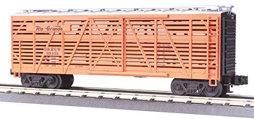 MTH 1:48 O Scale Denver Rio Grande #39433 Steel Sided Stock Car #20-94504 ()