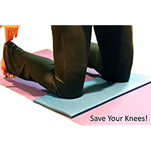 Thrive On Wellness Exercise Mini-Mat for Joint Support – Comfort on Knees, Wrists, Hips, Spine & Elbows, with Mat Spray Cleaner, Best Yoga Knee Pad for Pilates, Yoga, P90x & Stretch