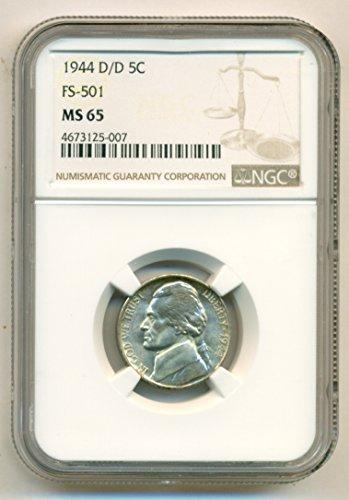 1944 D Jefferson D/D RPM Variety FS-501 Nickel MS65 NGC (Mint Ngc Nickel Jefferson)