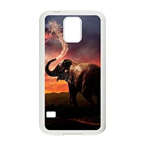 Bathing Elephant Personalized Cover Case with Hard Shell Protection for SamSung Galaxy S5 I9600 Case lxa#844502 Kimberly Kurzendoerfer