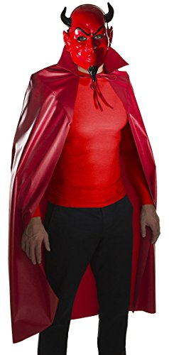 Rubie's Men's Scream Queens Devil Mask and Cape Set, Red, One Size