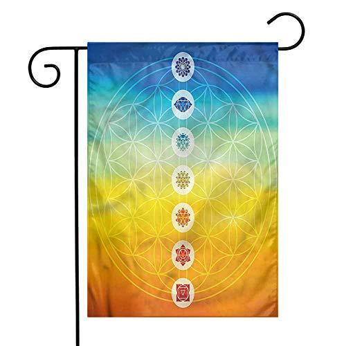 WinfreyDecor Abstract Garden Flag Power Universe Harmony Premium Material 12