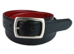 Cruelty Free Genuine Non Leather Belt with Silver Belt Buckle, Unisex Vegan Belt Made with Environmentally Friendly Products, Truth Savoy (Black, 36)