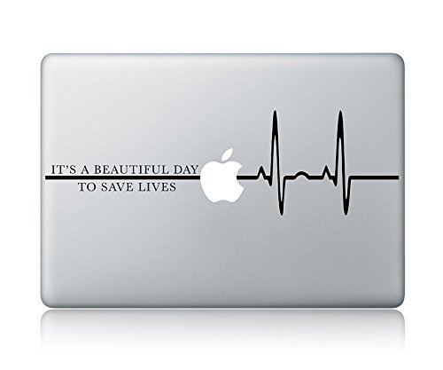 Best Price! Derek Shepherd Quote It's A Beautiful Day To Save Lives Grey's Anatomy Laptop Apple Macb...