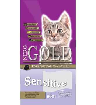 Pienso sensitivo/hipoalergénico para gatos - NeroGold Cat Sensitive 2,5 kg: Amazon.es: Hogar