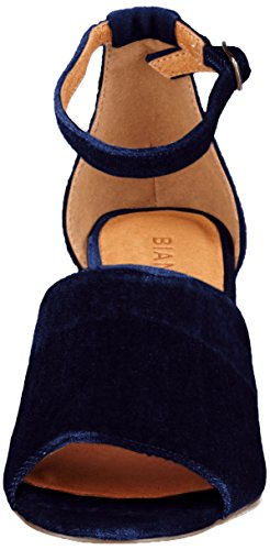Women's Navy 30 Party SAMT Blue Boot Sandals Strap Ankle Bianco OwC0d4qC