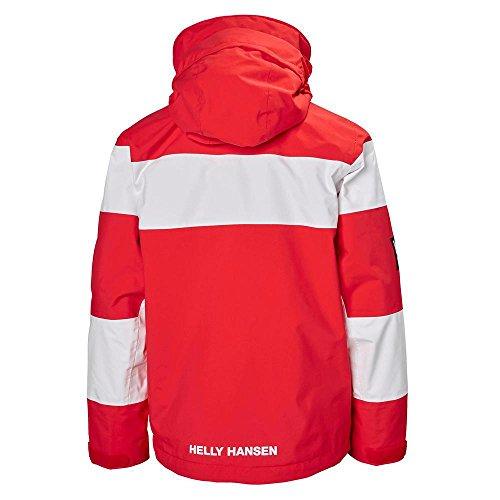 Helly Hansen Kids Salt Port Waterproof Quick Dry Lined Rain Jacket, Alert Red, Size 10 by Helly Hansen (Image #1)