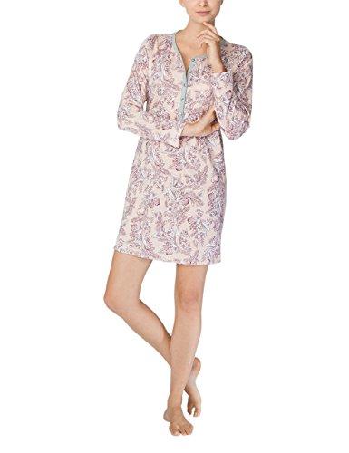 Calida Gwyneth Damen Sleepshirt, Camisón para Mujer Gris (Stein Meliert 096)