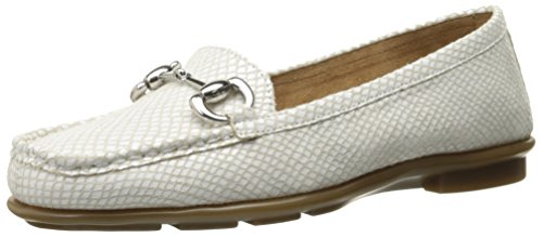 Aerosoles Womens Nuwsworthy Slip-on Loafer Witte Slang