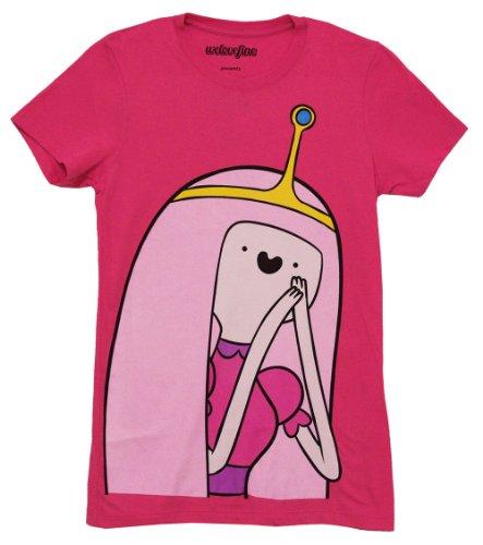 - Adventure Time I Am Princess Bubble Gum Juniors Pink T-Shirt | M