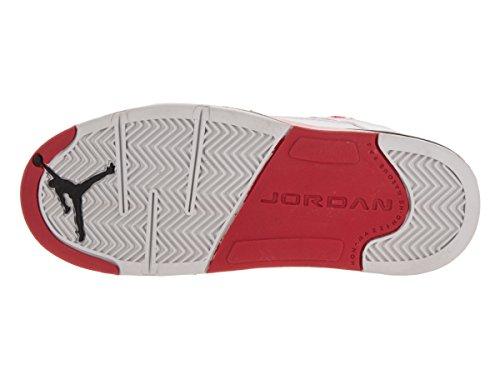 Nike Jordan 5 Retro Low (Ps), Zapatillas de Baloncesto para Niños Blanco / Rojo (White / Fire Red-Black)
