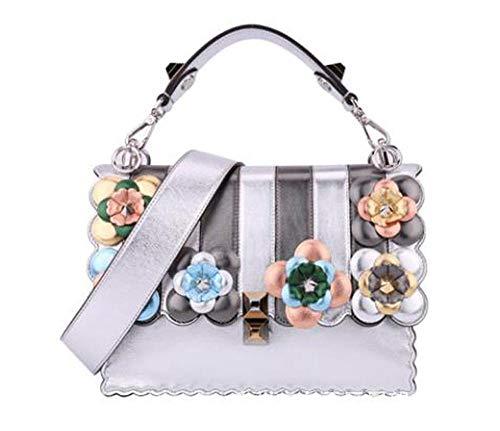 épaule en Cuir féminin Sxuefang Oblique Sac à Cuir Petit bag2018 côté Couleur Unique Main Fashion Fleur EPRpdqRw