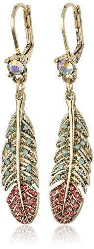 Betsey Johnson Betsey's Delicates Feather Drop Earrings