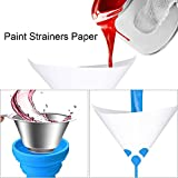 DAYREE 200 PCS Paint Strainers and 1 PC Silicone