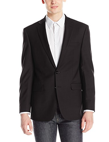 Calvin Klein Men's X-Fit Slim Stretch Suit Separate (Blazer and Pant), Black, 48 Regular by Calvin Klein