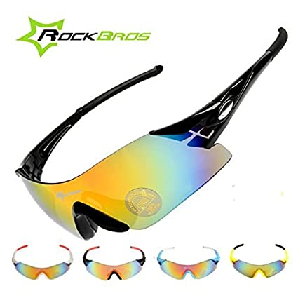 2e2fb1cf903 Image Unavailable. Image not available for. Color  Bazaar ROCKBROS Colorful  Cycling Glasses Bike Bicycle Windproof Sunglasses