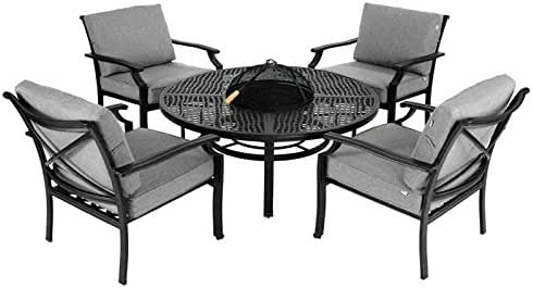 Hartman Jamie Oliver Fire Pit Set con 4 sillas de Chill Out: Amazon.es: Jardín