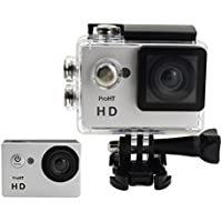 ProHT HD 720P Action Camera,Video Sport Camera (86304A)14MP Full HD 2.0 LTPS LCD Screen 30M Underwater Diving Camera,Waterproof DV Camcorder,90 Degree Wide Angle Lens,900mAh Lithium Battery