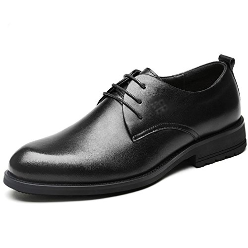 Véritable Casual Chaussures Uniformes Homme Cuir Lacets Black Entreprise Bout à Chaussures Derby Classique Brun Formelle Mariage Pointu Oxford aOXZa