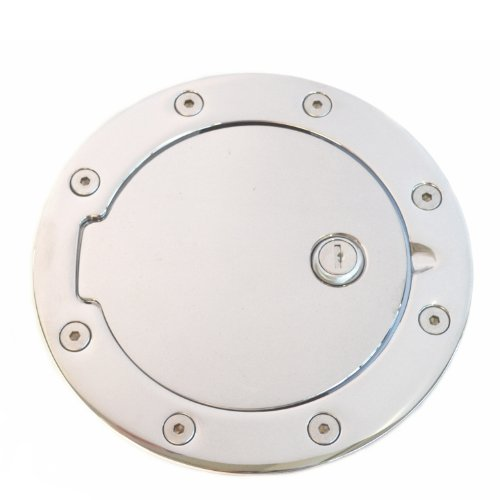 (AMI 6107CL Race Style Billet Fuel Door 7 1/8'' Ring O.D. 5 1/8'' Door O.D. -Chrome Locking, 1 Pack )