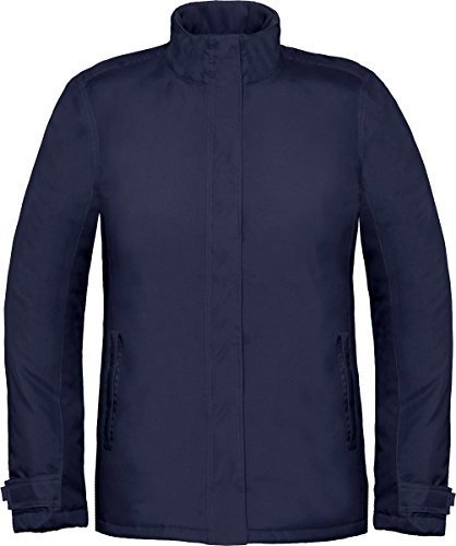 Bu0026C Damen Wintermode Warm Mantel Reißverschluss U0026 EASY VERSCHLUSS Echte +  Damen Jacke Marine 0FT5xMuLkj