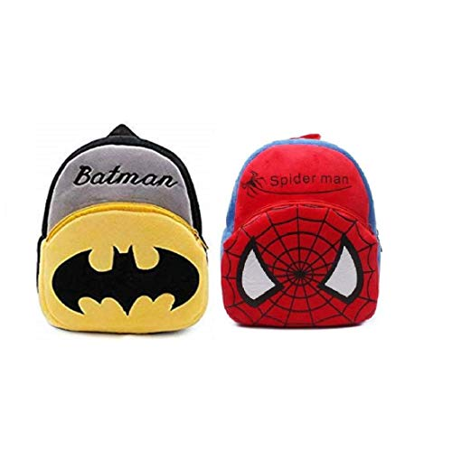 Fiable Swapta Combo of Spiderman Batman School Bags Set for Kids (Set of 2) Soft Bag School Bag Velvet 10 L Kids Teddy School Bag for Kids School/Nursery/Picnic/Carry/Travelling Bag (Mickey) (2-6 Years)