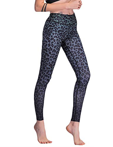 Hioinieiy Womens Cheetah Leopard Printed Leggings Women's High Waisted Workout Sports Spandex Cute Patterned Yoga Pants for Women Black M -