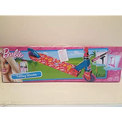 Barbie Folding Scooter Pink & Blue with Glitter Tires & barbie design : Sports Kick Scooters : Sports & Outdoors