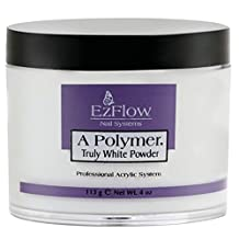 EZ FLOW A Polymer False Nails, Truly White, 4 Ounce
