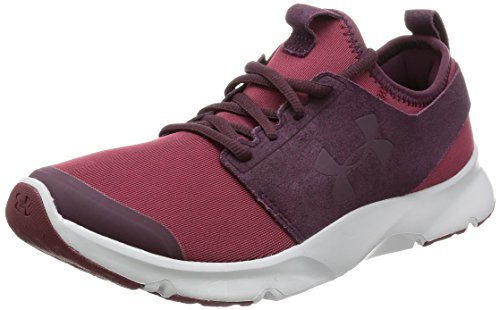 Under Armour Men's Drift RN Mineral Sneaker, Cardinal (625)/Glacier Gray, 12