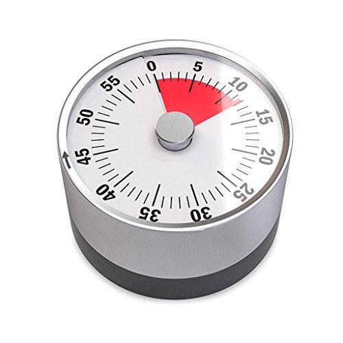 balvi - Basics Mechanischer und magnetischer Timer. Einstellbar von 1 bis 60 Minuten. Alarmton bei Erreichen der gewünschten Zeit. Zweifarbiges Zifferblatt Ideal für die Küche