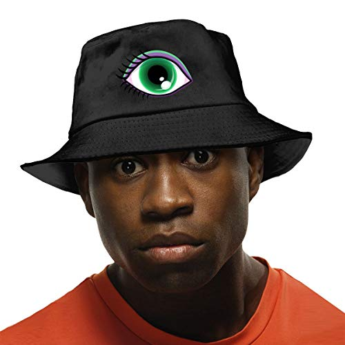 Eyeball-Clipart Black Sun Hat Outdoors Fishing Hats Bucket Hat Bonnie Caps for Hiking Camping Traveling Beach