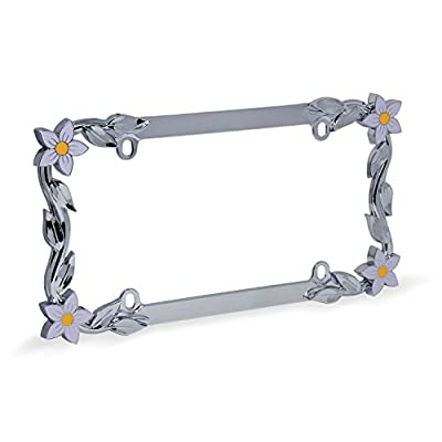 Cruiser Accessories 19130 Daisy License Plate Frame, Chrome/Painted: Automotive