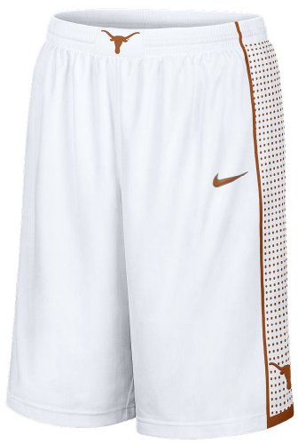 Texas Longhorns 2013 White 12 Inseam Embroidered Player Basketball Short By Nike (M=35-36)