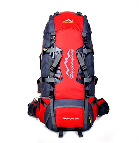Wmshpeds Bolso de múltiples funciones del alpinismo del litio de 80L bolso de hombro masculino del recorrido de los deportes al aire libre de nylon G