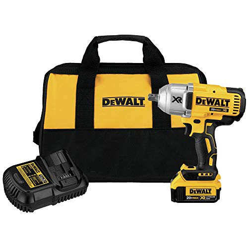 Dewalt DCF899M1R 20V MAX XR Cordless Lithium-Ion High Torque 1/2 in. Impact Wrench with Detent Pin Anvil (Certified Refurbished)