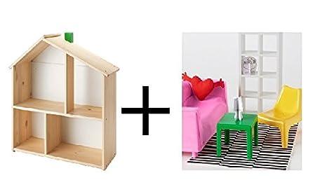 Ikea dolls house furniture Play Ikea Image Unavailable Amazoncom Amazoncom Ikea Doll Housewall Shelf Doll Furniture Living Room