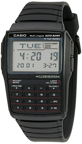 Casio Men's DBC32-1A Data Bank Black Digital Watch]()