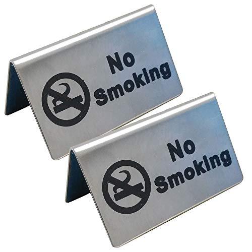 l No Smoking Sign Tent Card Do Not Smoke Table Board Restaurant Hotel Non-Smoking Desk Logo Indicator ()