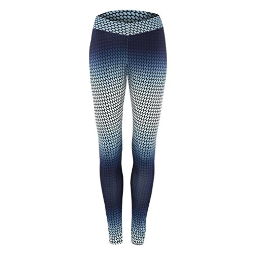 Vovotrade della nuova delle donne Stretch Skinny stampano i pantaloni slim ghette Pantaloni Sport