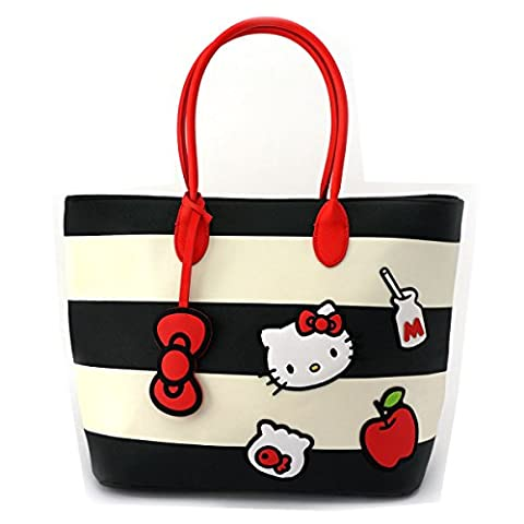 Loungefly x Hello Kitty Stripe Icons Tote Bag (One Size, Multi) - Sporty Travel Tote